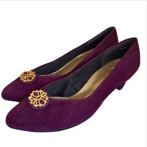 Selby Pumps Shoes Size 13 Suede Leather Purple